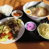 福龍亭 - 料理写真:回鍋肉セット(塩ラーメン)