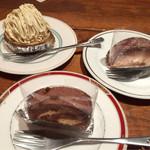 博多フードパーク 納豆家 粘ランド - 納豆入りデザート(ガトーショコラ、ロールケーキ、モンブラン)