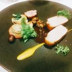 60827783 - 鹿児島黒豚のロースト 山椒の香るソース
