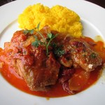 60828411 - 若鶏のトマトソース煮 & ライス