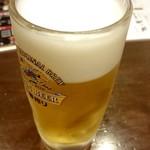 信州そば処 そば茶屋 - 生ビール