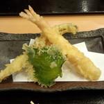 日本橋 からり - からり天ぷら御膳(海老、穴子、大葉)