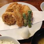 登良屋 - 2014/12/3 天ぷら一人前盛り(お食事付き)