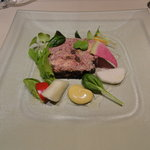 トゥールモンド - 前菜:蝦夷鹿とフォアグラのテリーヌ(パテ?)
