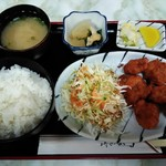 長和 - 料理写真:「カラアゲ定食」680円