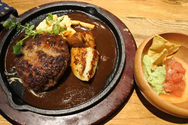 ホメラ テキサコ カフェ アンド テーブル - スペシャルハンバーグ(1380円外税)