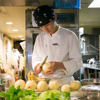 野菜をどう扱い、どう調理すれば本来の味を出せるかを追求