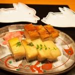 美々卯 - 押し寿司盛合せ