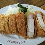 とんかつ竜 - 上ロースカツ定食 1100円