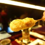 串揚げはやし - 2016/12_大山地鶏のねぎま