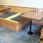 大樹 - 2016年 小上がりの座敷がテーブル席に改装されてます。