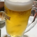津駅前食堂 岸 - 生ビール