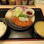 松のや - おろしロースかつ定食 600→500円