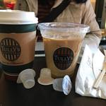 タリーズコーヒー - 2017/01 コーヒー with スチームミルク 370円 + 30円、アイスカフェラテ Tall 410円