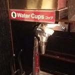 一蘭 - カウンター毎にセルフのお水