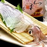 居酒屋 朝次郎 - 新鮮な呼子ヤリイカの活き造り100g1000円より!