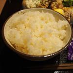魚・オイルしゃぶしゃぶ 和達 - 鶏の竜田揚定食