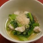芝濱 - 鯛と小松菜のおひたし