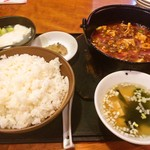 60878141 - 四川風鉄鍋麻婆豆腐セット