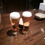 生ビールと玉子焼きの店 青山 - 生ビールも美味いよ♪