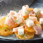 ザ・ブラッスリー - 有田みかんと生ハムフェッタチーズのディル風味