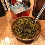 ラー麺 ずんどう屋 - 高菜 ※無料サービス