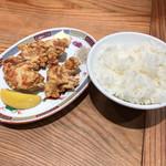 ラー麺 ずんどう屋 - からあげ定食+290円(税込) ※平日限定の「選べる定食」より
