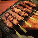 備長炭火串焼 くいしん坊 - 料理写真:豚串の盛り合わせ