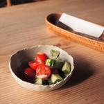 カレーハウス木里吉里 - セットのサラダ