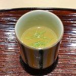 東麻布 天本 - 鯛のスープ