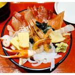 魚菜屋 - 「漁師の荒磯丼」(2016.12)