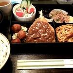 みどり喫茶 - 2017年1月4日の日替わり弁当ドリンク付き780円