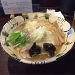 60908655 - 塩(850円)+大盛り(100円)+海老ワンタン(200円)