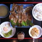 焼き肉さんぜん - しょうが焼肉定食 ¥480