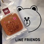 銀座 松崎煎餅 - 可愛いブラウンの袋