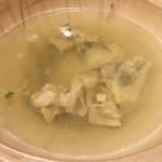 つち田 - 昆布と河豚の骨からとった濃縮スープ。ベースは昆布。この旨味!雑炊のためになんとか残しました。