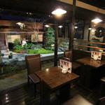 珈琲屋らんぷ  - 庭園の見える席