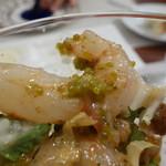 ビストロ ダイア - 北海シマエビの卵は緑色でした