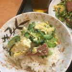 沖縄そば やんばる - ゴーヤチャンプルご飯完成