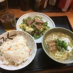 沖縄そば やんばる - ゴーヤ定食930円