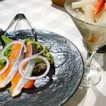 オステリア ハミングバード - 銀鮭のスモークとピクルス