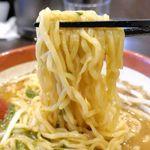 麺場 田所商店 - 肝心の麺は太めでモチモチ食感で、キレの良いスープともマッチ!もっとこってりしているのかも?と思っていただけに、キレのある美味しさが楽しめたことに驚きました。