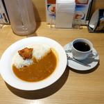 カレーショップ C&C - 朝カレーA350円、ホットコーヒー130円