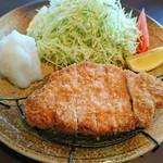 お家のとんかつ亭 - 料理写真:おろしかつ定食なのだ(*^^*)