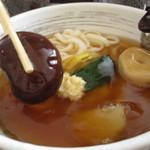 うどん・そば吉野 - 戻した干し椎茸は、某店よりは小さくてもなかなかの大きさ肉厚で食べ応えあり