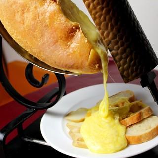 とろ~りとけおちるラクレットチーズ