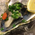 二毛作 - 殻付き牡蠣…親牡蠣の上に子牡蠣を乗せて〜♪