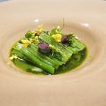 ツシミ - ヴェール アスパラ菜、ケール、島根産アオリイカ