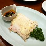 60950082 - 蒸し鶏のスパイシーソース(口水鶏:よだれ鶏)¥670