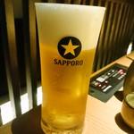 博多もつ鍋 おおやま - 生ビール